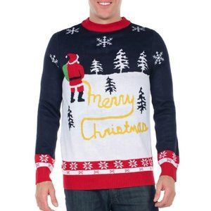 Tipsy Elves Yellow Snow Ugly Christmas Sweater XXL